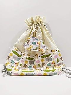 Tina Codazzo Home Baby Zainetto per bambini animaletti stampati con nuvola