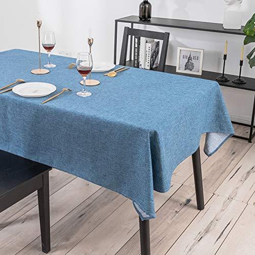 WEWE Effen Kleur Tafelkleed, Waterdichte Olie-proof Thee Tafelmatten Nordic Eenvoudige Stofafdekking Oblong Tafelhoes Voor Keuken Café Tuintafel
