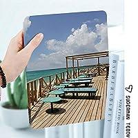 IPadケース スマートカバー アイパッドケース タブレットカバー アイパッド第四世代 第三世代 バーテラスビーチショアクラトラ島ポルトガル休暇休暇