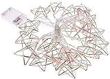 RTUTUR Luces de Vacaciones de Cuerda Ligera, lámpara Decorativa Cadena Estrella de Hadas Rosa Oro batería geométrica apagada Las Luces de Hadas.