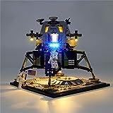 Conjunto De Luces (Creator NASA Apollo 11 Lunar Lander) Modelo De ConstruccióN De Bloques, Compatible Con El Modelo De Bloques De ConstruccióN Lego 10266(No Incluido El Modelo)