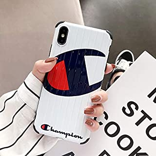 iPhone 8 Plus, iPhone 7 Plus Case, Street Fashion Shockproof Anti-Scratch TPU 3D Stripes Realistic Suitcase Trunk Soft Cover Case for iPhone 8 7 Plus (White)