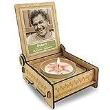 TROSTLICHT | Trauerkerze in Holz-Box mit Spruch | personalisiert mit Foto & mit Namen | Erinnerungskerze statt Trauerkarte | Trostgeschenk | Trauerkerze mit Spruch (Sterne der Erinnerung)