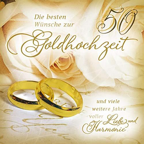 Karte zur Goldhochzeit Romantica - Ringe - 15 x 15 cm