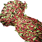 LemonDM 2M Hojas Verdes de Cera de simulación de Tejido de Cuerda, Cuerda de cáñamo, Boda de DIY, cumpleaños, Decoraciones de la Boda, Regalo Caja de la Cuerda Rota Ramo,Red
