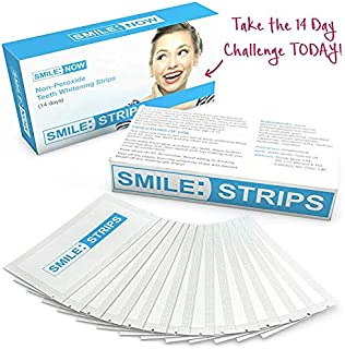 Teeth Whitening Strips - Zero Peroxide - Fluoride Free - Whiten Teeth - Enamel Safe! Promising Shades Whiter for That Whiter Smile You're After!