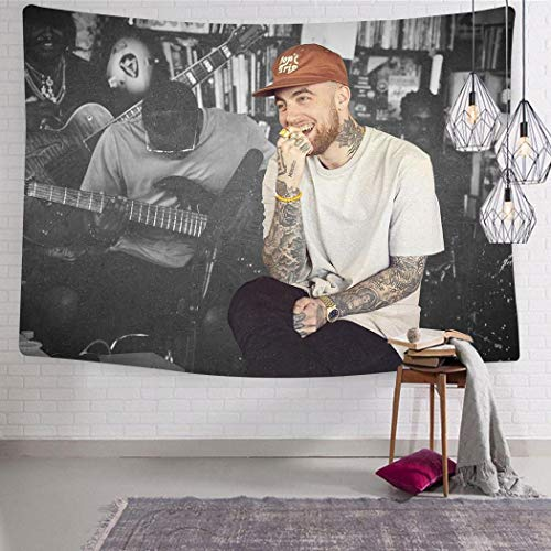 VIPODER Wall Tapestry The Evolution of Mac M-iller's Music Wall Art Decoration Tapestry Wall Hanging for Living Room Bedroom Dorm Decor 51.2 x 59.1 Inch