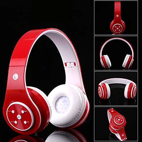 chenpaif Auriculares Bluetooth, Auriculares inalámbricos Bluetooth para PC/tabletas/teléfonos Inteligentes compatibles con Tarjeta TF