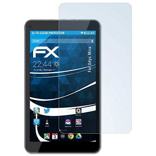 atFoliX Schutzfolie kompatibel mit Odys Mira Folie, ultraklare FX Bildschirmschutzfolie (2X)