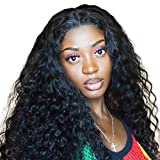 Water Wave Wig Human Hair Wigs 4x4 Lace Wig Brazilian Curly Closure 4x4 Lace Closure Wig Water Wave Closure 18inch Bleached Knots With Baby Hair 18 Inch NIUDINNG