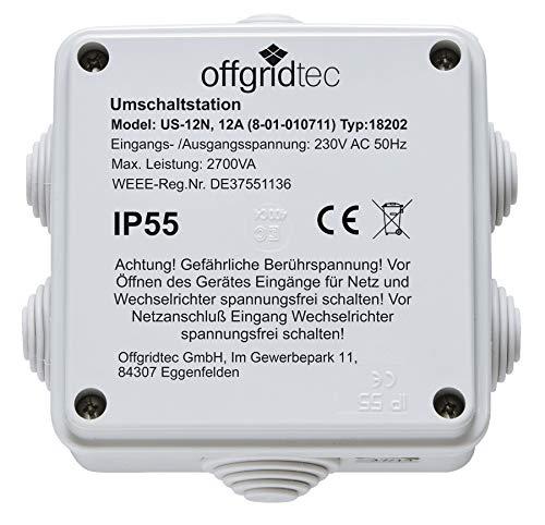 Offgridtec Umschaltstation für Netzvorrangschaltung USV Betrieb US230/12 12A 2700W 230VAC