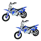Razor MX350 Kids & Teen Dirt Rocket Ride On High-Torque 24V Electric Toy Motocross Motorcycle Dirt Bike, Speeds up to 14 MPH, Blue (2 Pack)