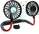 YIWEI Portable Neck Fan,Hand Free Wearable Fan Rechargeable Mini USB Personal Fan 360° Degree Perfect for Office Travel Sport and Outdoor