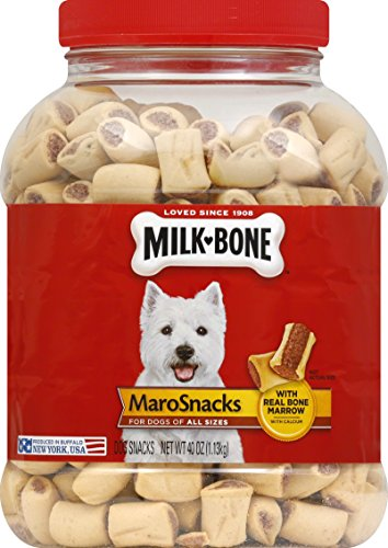 Milk-Bone MaroSnacks with Real Bone Marrow Dog Treats, 40 Ounces (Pack of 2), All Size Dogs