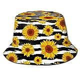 MKH - Sombrero plegable de lona con diseño de girasoles, id