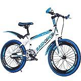 N&I Bike Single Speed Mountain Student Bike 20 inch 22 inch Bike High Carbon Steel Rear Brake Brake Shock Absorption Primary School Children's Bicycle Blue 20inch