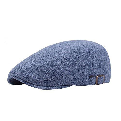 Leisial Unisex Flatcap Schirmmütze Schiebermütze Beret Golfmütze für Damen und Herren,Blau