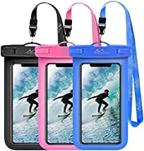 MoKo Waterproof Phone Pouch [3 Pack], Underwater Phone Case Dry Bag with Lanyard Compatible with iPhone 12 Mini/12 Pro, iPhone 11 Pro/11 Pro Max X/Xs/Xr/Xs Max,8, Samsung S21/S10/S9/S8 Plus, Note 10