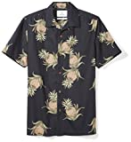 Amazon Brand - 28 Palms Men's Standard-Fit Tropical Hawaiian Shirt, Black Pineapple, XX-Large
