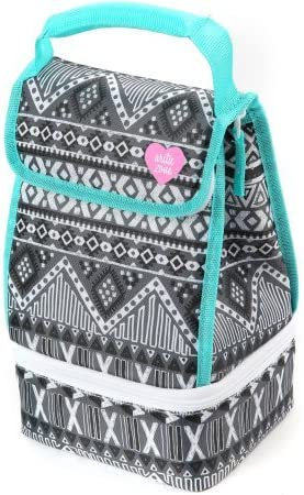 Arctic Zone Insulated 2 Compartment Lunch Bag with Microban