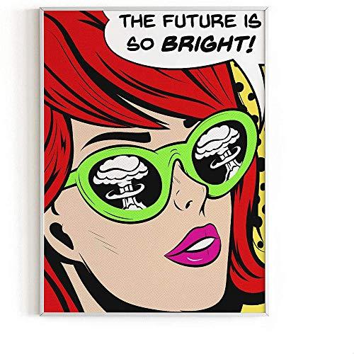 Chica De Moda por Roy Lichtenstein Poster Pop Art Print Vintage Comic Lienzo Pintura Roy Lichtenstein Pared Arte Decoracion del Hogar Cuadros 40x60cm Sin Marco