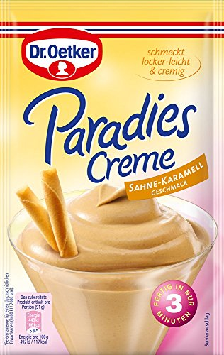 Dr. Oetker Paradies Creme Sahne-Karamell, 12er Pack (12 x 65 g)