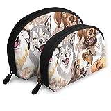 Great Pyrenees Hunde-Kosmetiktasche Husky Gesicht, Muschelform, tragbare Aufbewahrungstasche Luxus Kulturbeutel