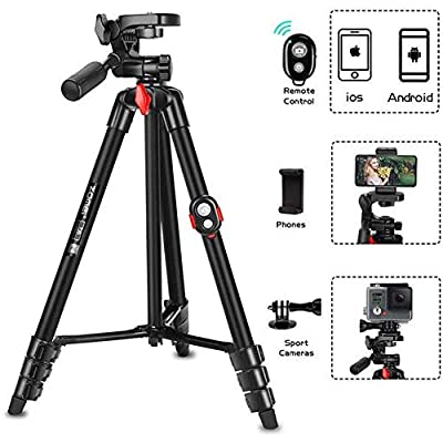 Portable Tripod with Phone Clip and Bluetooth R...