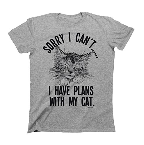 Sorry I cant..I Have Plans With My Cat Mens & Ladies Unisex Fit Slogan T-Shirt XXXL