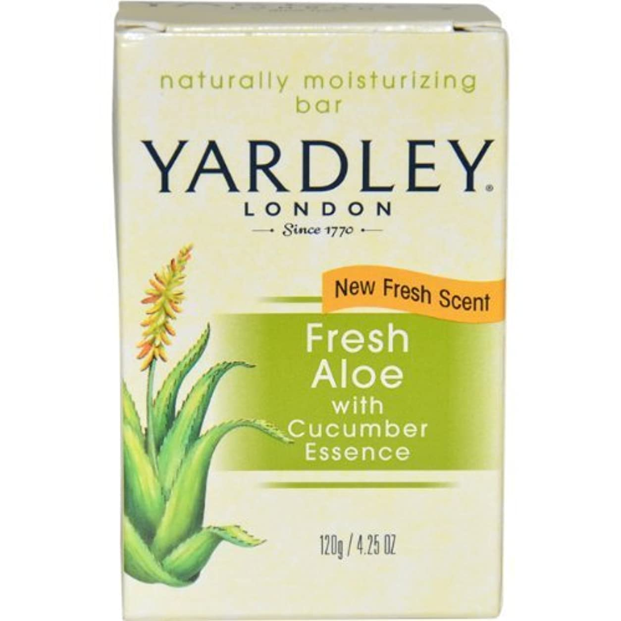 人気の宣言するライターFresh Aloe with Cucumber Essence Bar Soap Soap Unisex by Yardley, 4.25 Ounce (Packaging May Vary) by Yardley [並行輸入品]