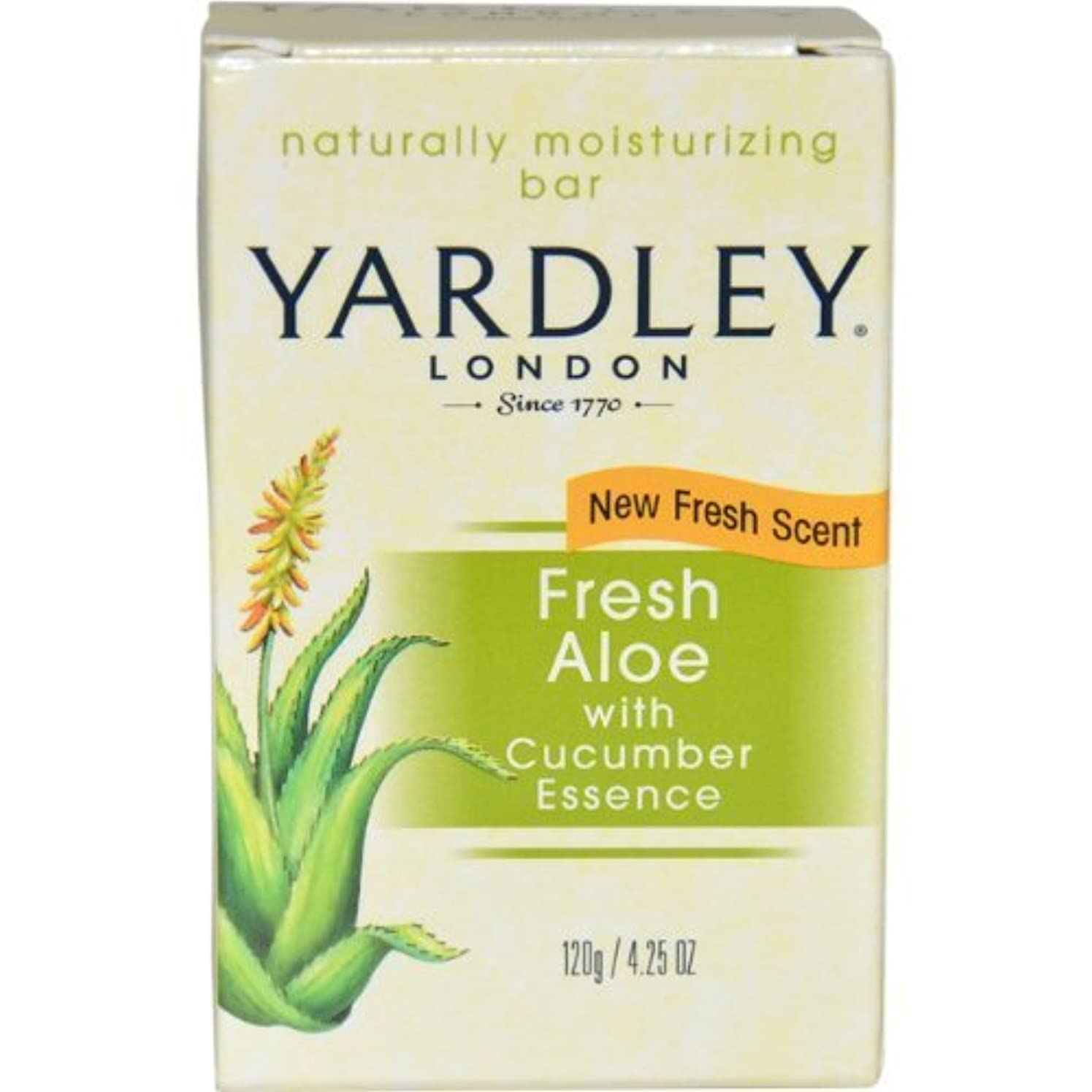 メニューごめんなさい不足Fresh Aloe with Cucumber Essence Bar Soap Soap Unisex by Yardley, 4.25 Ounce (Packaging May Vary) by Yardley [並行輸入品]