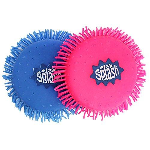 com-four® 2X Wasser Frisbee, Wasser Wurfscheibe aus Schaumstoff und Silikon, Extra Soft, in knalligen Farben, 12,5 cm (02 Stück - Frisbee 12.5 cm)