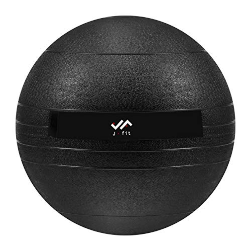 JFIT Dead Weight Slam Ball for Strength and Conditioning WODs, Plyometric and Core Training, and Cardio Workouts - Classic Black - 20 LB
