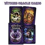 Luckyx Witches Wisdom Oracle Cards Tarot | 48 Karten Atemberaubendes Deck | Jedes Atemberaubende Ruft Die Magie Hervor, Die Sie Mit Den Elementen, Mystischen Reichen Und Dem Geist Verbindet