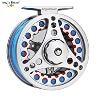 ANGLER DREAM AnglerDream 1 2WT Fly Reel with Line Combo Large Arbor Aluminum Fly Fishing Reels
