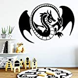 Tianpengyuanshuai Pegatinas de Pared Coloridas del dragón Pegatinas de Pared móviles Calcomanías de Arte de Pared de Fondo 28X39cm