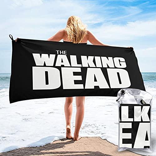 Logo The Walking Dead - Juego de toallas de secado rápido para playa, viajes, piscina, camping, al aire libre y deportes - Ligero compacto y arena 27.5 x 55 pulgadas