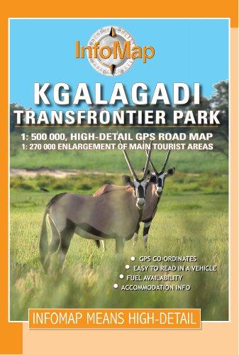 Kgalagadi Transfrontier Park GPS r/v infomap