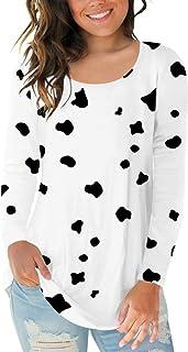 Womens Halloween Shirts Long Sleeve Scoop Neck Tops Casual