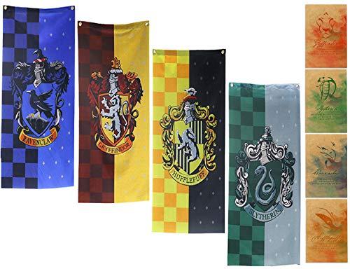 yuzhouzun Geburtstag Party Geschenke Ravenclaw Flagge Dekoration Harry Potter Fanartikel Harry Potter Banner Harry Potter Teppich kinderzimmer