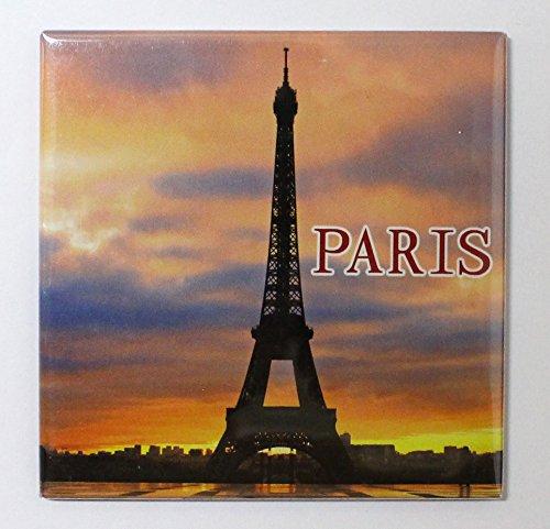 AKER Magnet Aimant frigo MGE19 Cuisine Souvenir France Paris Cadeaux Tour Eiffel 8,5X8,5 cm