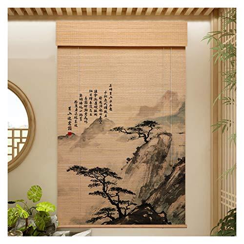 CAIJUN Ventana De Anteojeras De Bambú, Natural Impermeable Cortina De Protección Solar para Ventana para Entrada Panel Decorativo, Elección De 2 Estilos (Color : B, Size : 140x300cm)