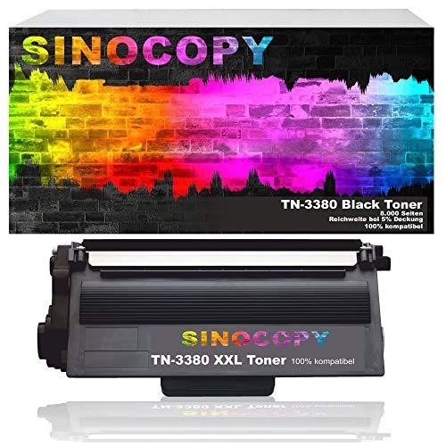 SinoCopy XXL Toner TN-3380 Schwarz für Brother HL-5450 DCP-8100 Series 8110 -8155 -8250 HL-5400 5440 D DNT -5470 DW -5480 -6100 -6180 MFC-8510 -8515 -8520 -8710 -8810 -8900 -8910 -8950