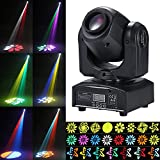 Tomshine Moving Head 30W DMX-512 Mini Disco Licht Party Licht, 9/11 Kanäle, 4 Steuermodus, 540° / 180° Drehung, 8 Gobo 15 Farben für Party,Club, DJ-Show