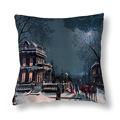 Perfecone Home Improvement - Funda de almohada de algodón para sofá y coche, 45 x 45 cm