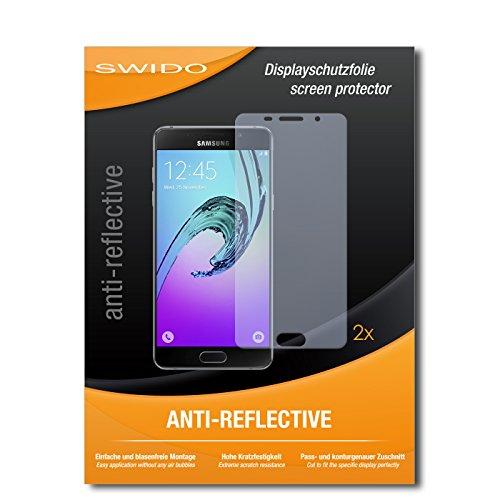SWIDO Schutzfolie für Samsung Galaxy A5 (2016) [2 Stück] Anti-Reflex MATT Entspiegelnd, Hoher Festigkeitgrad, Schutz vor Kratzer/Bildschirmschutz, Bildschirmschutzfolie, Panzerglas-Folie
