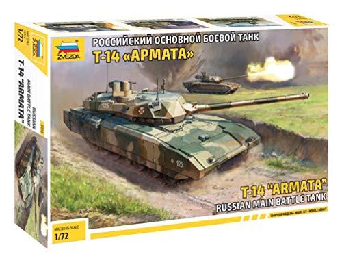 ZVEZDA 500785056 - 1:72 T-14 Armata Russian Battle Tank, Modellbau, Bausatz, Standmodellbau, Hobby, Basteln, Plastikbausatz