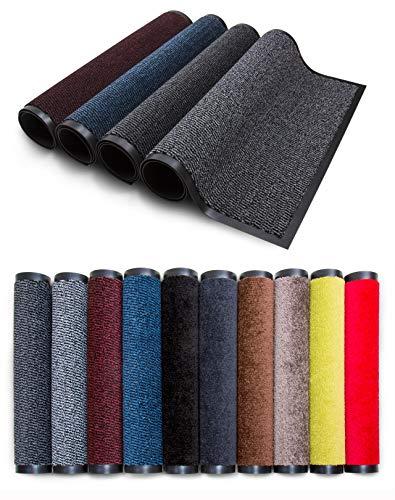 Carpet Diem Rio Schmutzfangmatte - 5 Größen - 10 Farben Fußmatte mit äußerst starker Schmutz und Feuchtigkeitsaufnahme - Sauberlaufmatte in dunkel grau - anthrazit - schwarz 60 x 90 cm