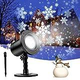 RUNACC Luces de proyector de Navidad LED, Proyector Luces Copos de Nieve Impermeable IP65, Interior y Exterior Decoración Luz de Proyector para Navidad Fiestas Festivos