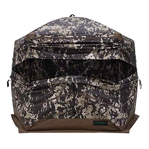 Barronett Blinds OX5 Hub Hunting Blind, 4 Person Pop Up Ground Blind, Crator Core Camo, BX550CC